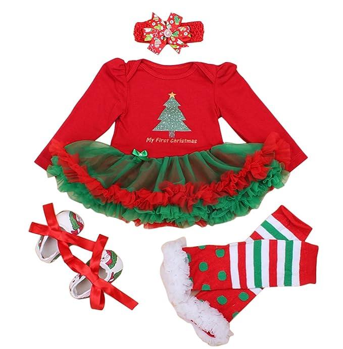 FEOYA - (set de 4)Falda Bebés Tutú Niñas Vestido Traje de Navidad Tutú 62865e628e3f