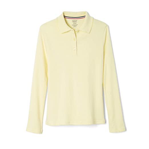 221c3851f French Toast Big Girls  Long Sleeve Interlock Polo with Picot Collar