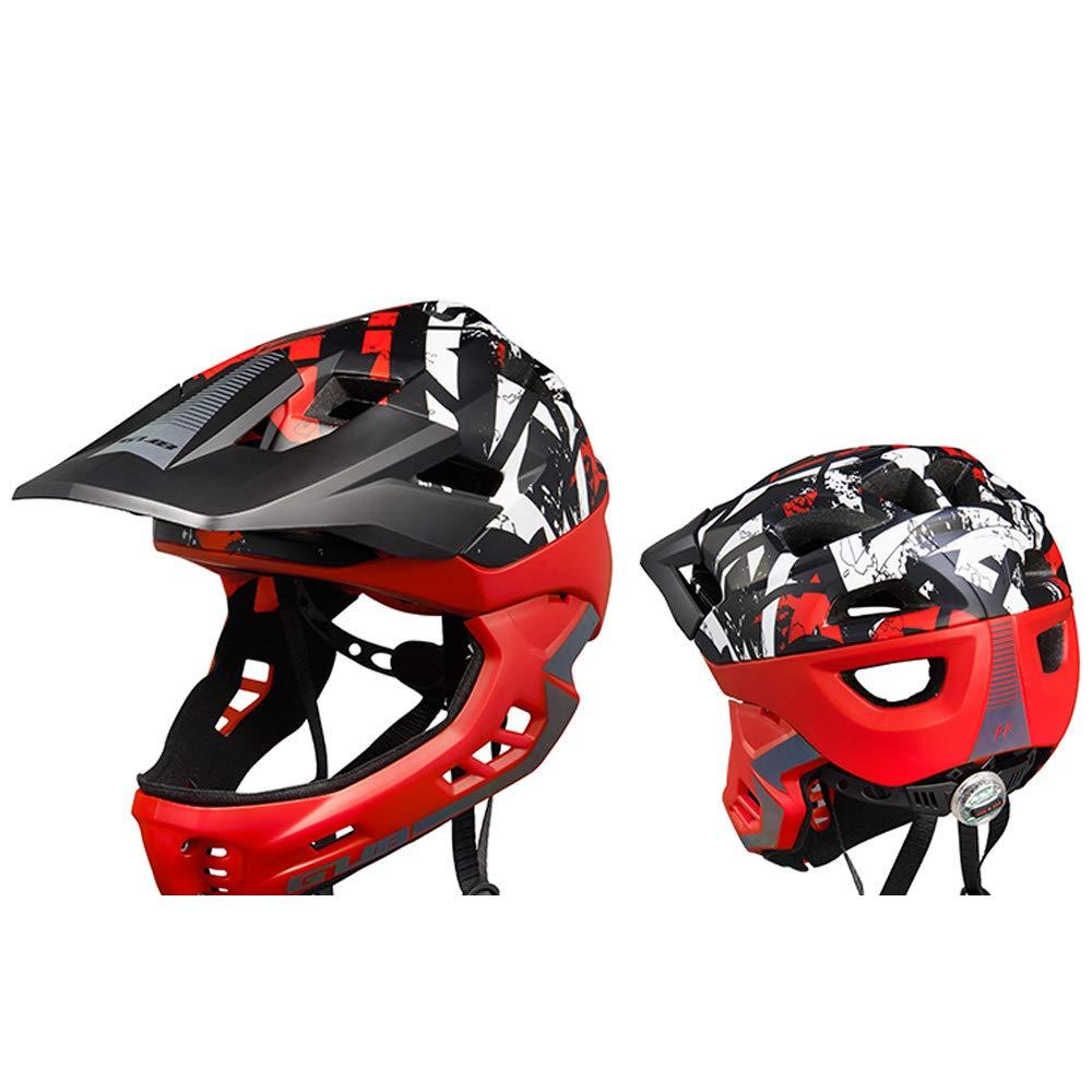 子供のバランス車のフルフェイスヘルメットアウトドアライディング安全保護キャップ子供の若者の自転車スクーターユニバーサルモデル   B07QZJ1T8G