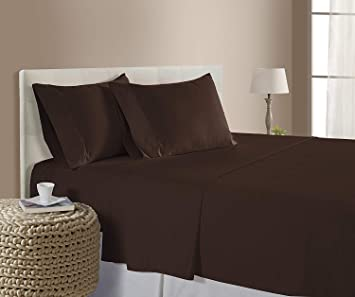 1800 Count Fitted Sheet Fits Deep Pocket Mattresses Full Elastic Around Soft!