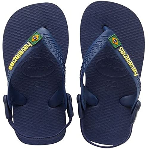 Havaianas Baby Brasil Logo Sandali Bambino, Blu (Navy/Yellow 0144), 22 EU (20 Brazilian)