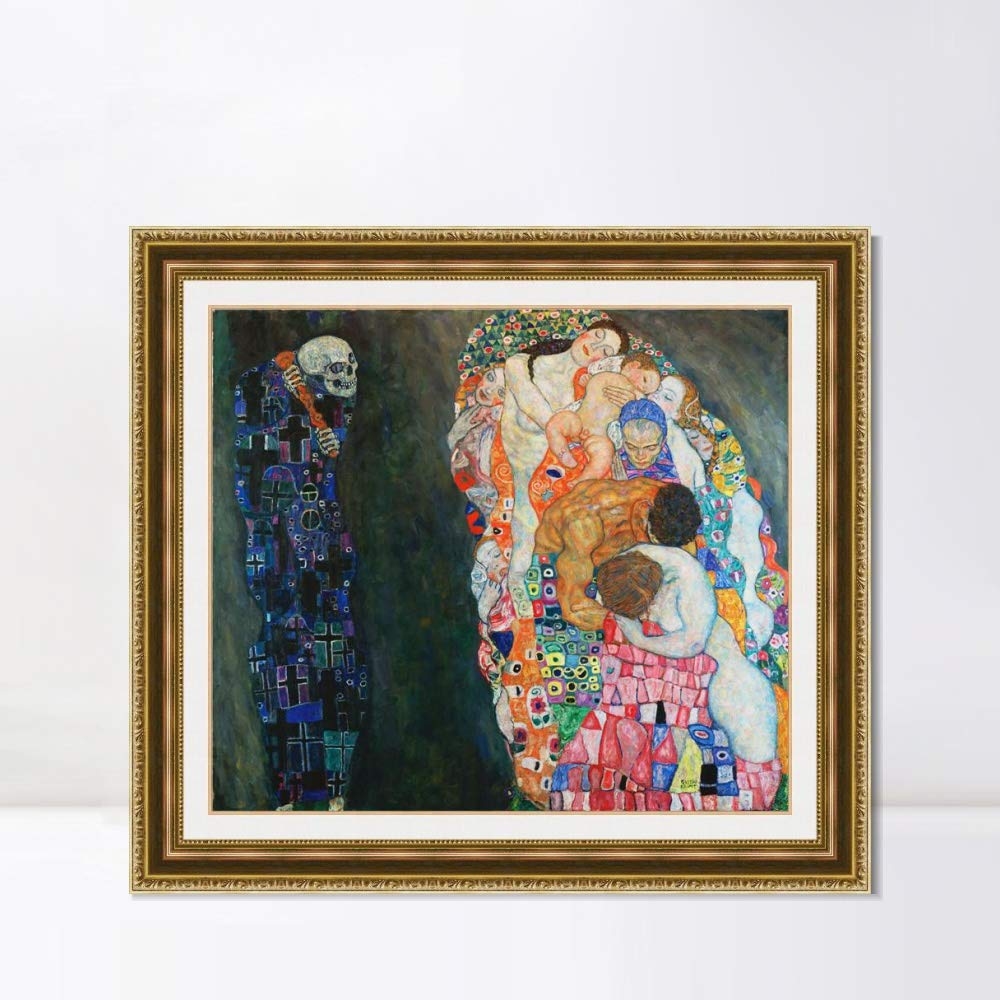 DEATH AND LIFE BY GUSTAV KLIMT ON FRAMED CANVAS PRINTS WALL ART PICTURES ARTWORK