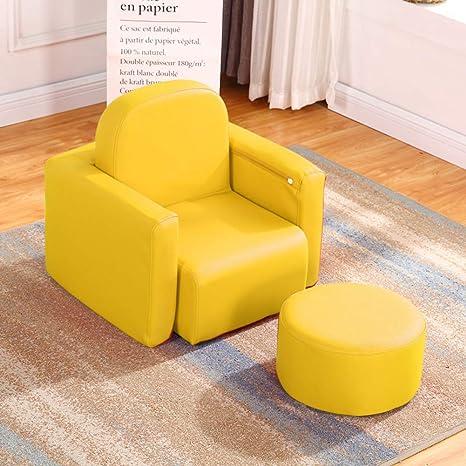 V&K Asiento del sofá de los niños, Mini Perezosos Cuero Sofá ...