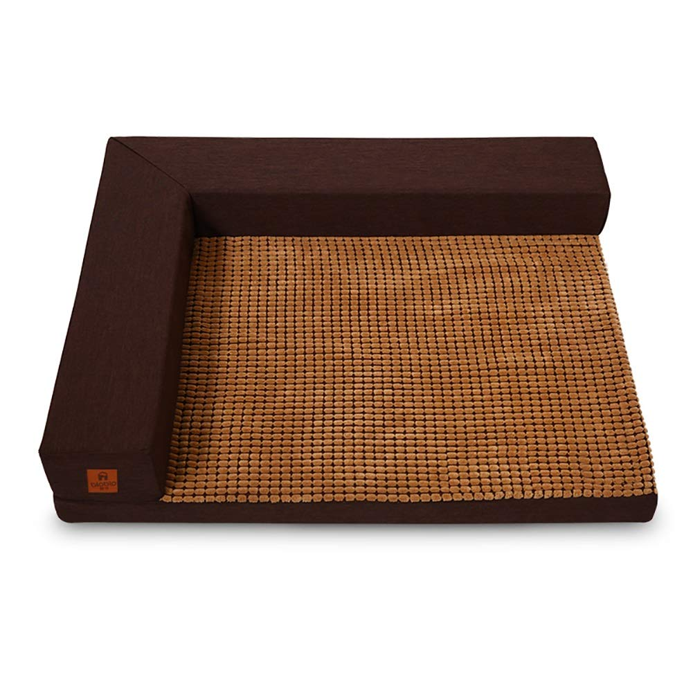 M(75×60×13cm 15kg) Dog Bed Pet, Raised Edge, for Dog, Cat or Other Animal, Smooth Velveteen Fabric, Detachable and Washable (Size   M(75×60×13cm 15kg))