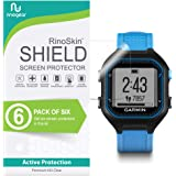 [6-Pack] RinoGear for Garmin Forerunner 25 Screen Protector [Active Protection] Full Coverage Flexible HD Crystal Clear Anti-Bubble Film