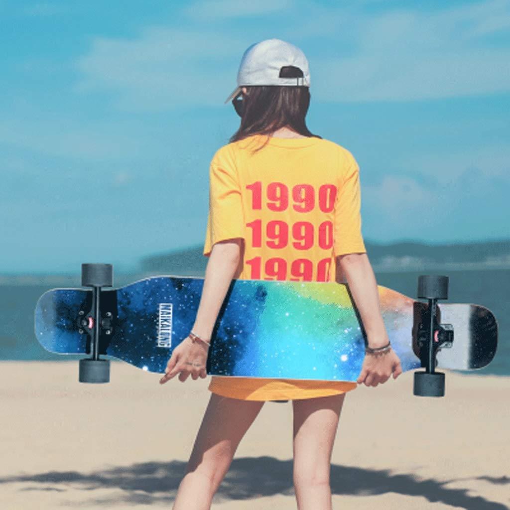 KYCD Fertigkeiten Skateboard Longboard Tanzbrett Erwachsene Straße Männer Männer Männer und Frauen Jugend Anfänger Straße Skateboard Bilaterales Schrägbrett B07Q17MWRG Longboards Elegant 815673