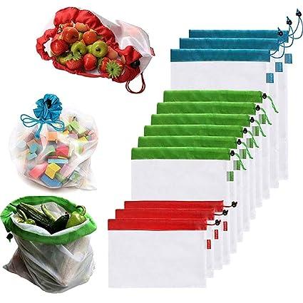 Amazon.com: NASUDAKE Bolsas de malla reutilizables para ...