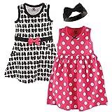 Kyпить Hudson Baby Baby Girls' 3 Piece Dress and Headband Set, Bows, 18-24 Months на Amazon.com