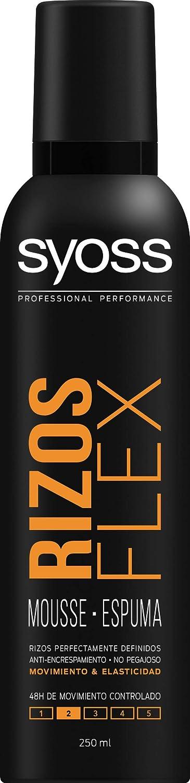 SYOSS - Espuma Rizos Flex - Rizos Perfectamente Definidos Sin Encrespamiento - 2uds de 250ml