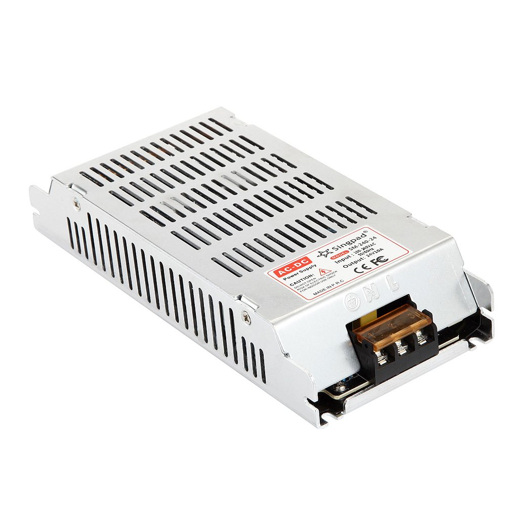 Singpad New Style 240W ED Driver Power Supply adapter led strip light transformer Universal DC 24V 10A Regulated Switching Power Supply For LED Light Strip AC 110-240V