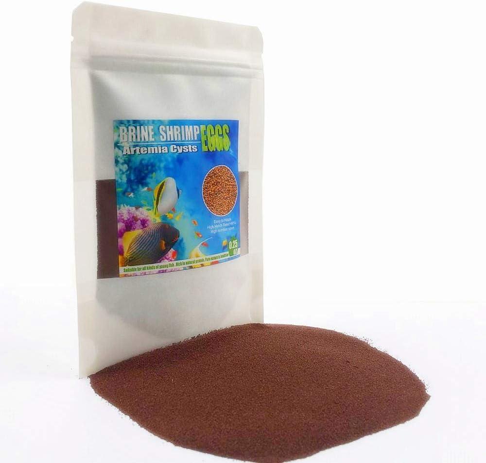 Sequoia Brine Shrimp Eggs for Aquatic Foods Baby & Fry Foods The Popular 90% Hatch GSL Brine Shrimp Eggs