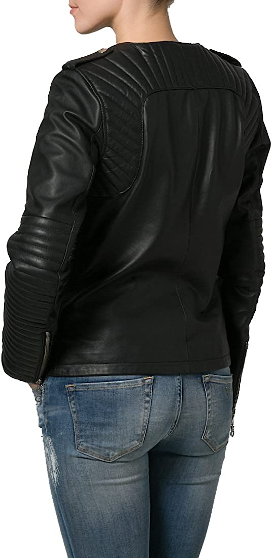 Brand New Genuine Soft Lambskin Leather Jacket For Womens Designer Wear LFWN106