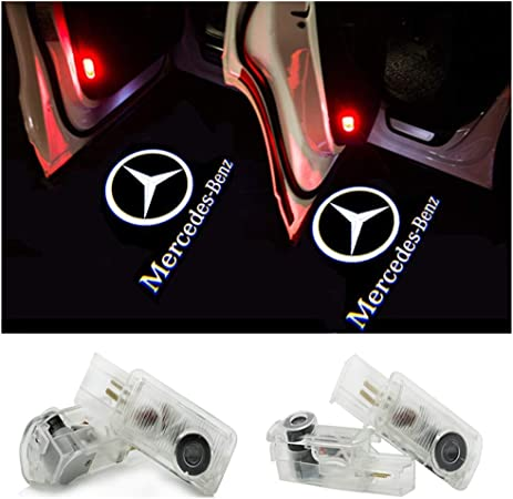 ZTMYZFSL 2 St/ücke Auto Logo Projektion Projektor T/ür geister Shadow Light Willkommen Lampe Licht