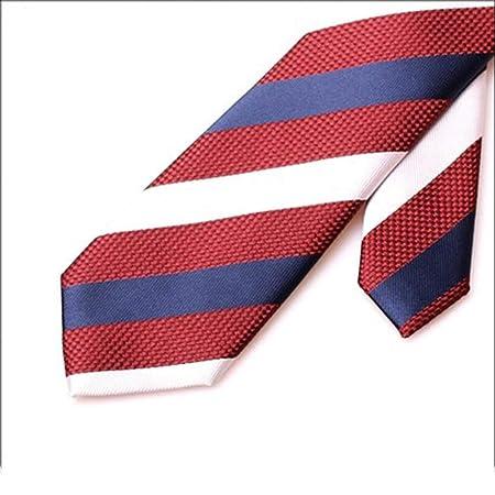 GuanBen Corbata de Hombre, patrón de Rayas de poliéster 7 cm ...
