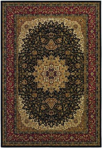 (Couristan Izmir-Royal Kashan/Black, 3'11