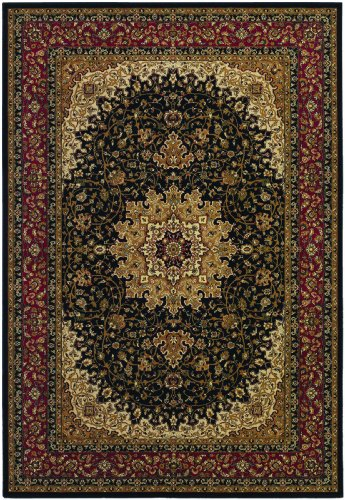 Couristan Izmir Royal Kashan Black Area Rug, 9'2