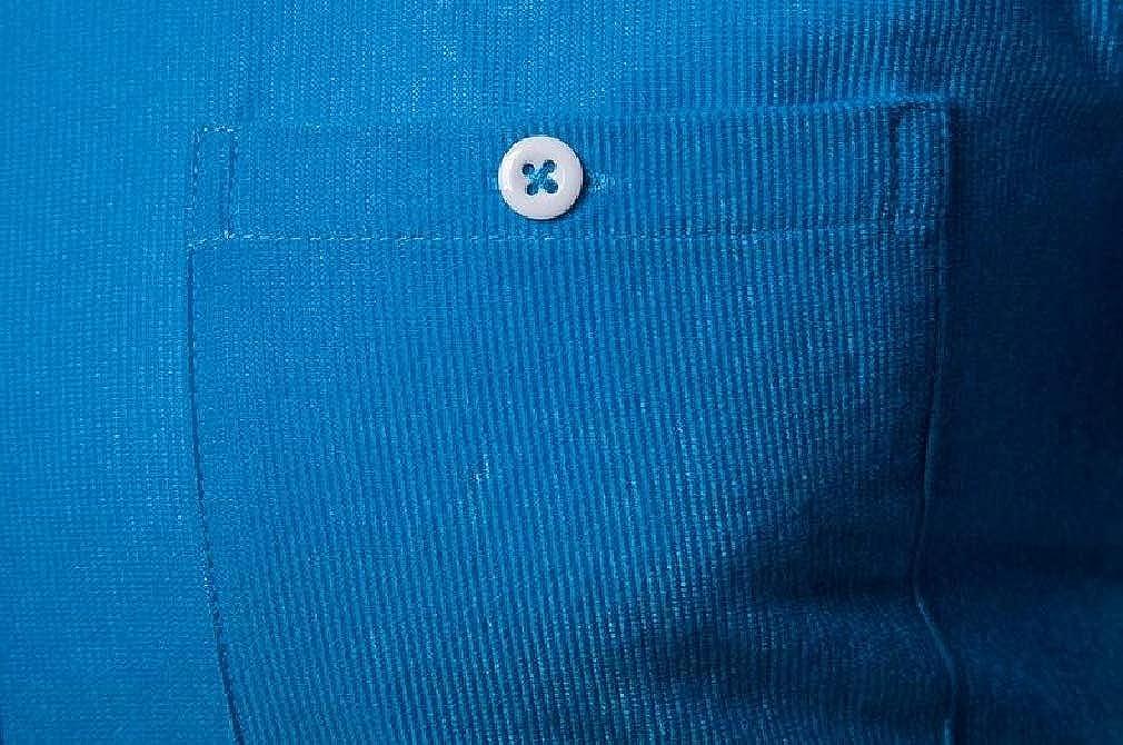Joe Wenko Mens Long Sleeve Button Down Casual Pocket Corduroy Dress Shirt
