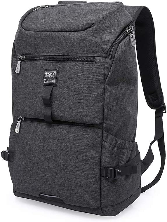 Travel Backpack Waterproof Computer Schoolbags Backpack Mens Travel Bags Color : Black, Size : 18 INCHES