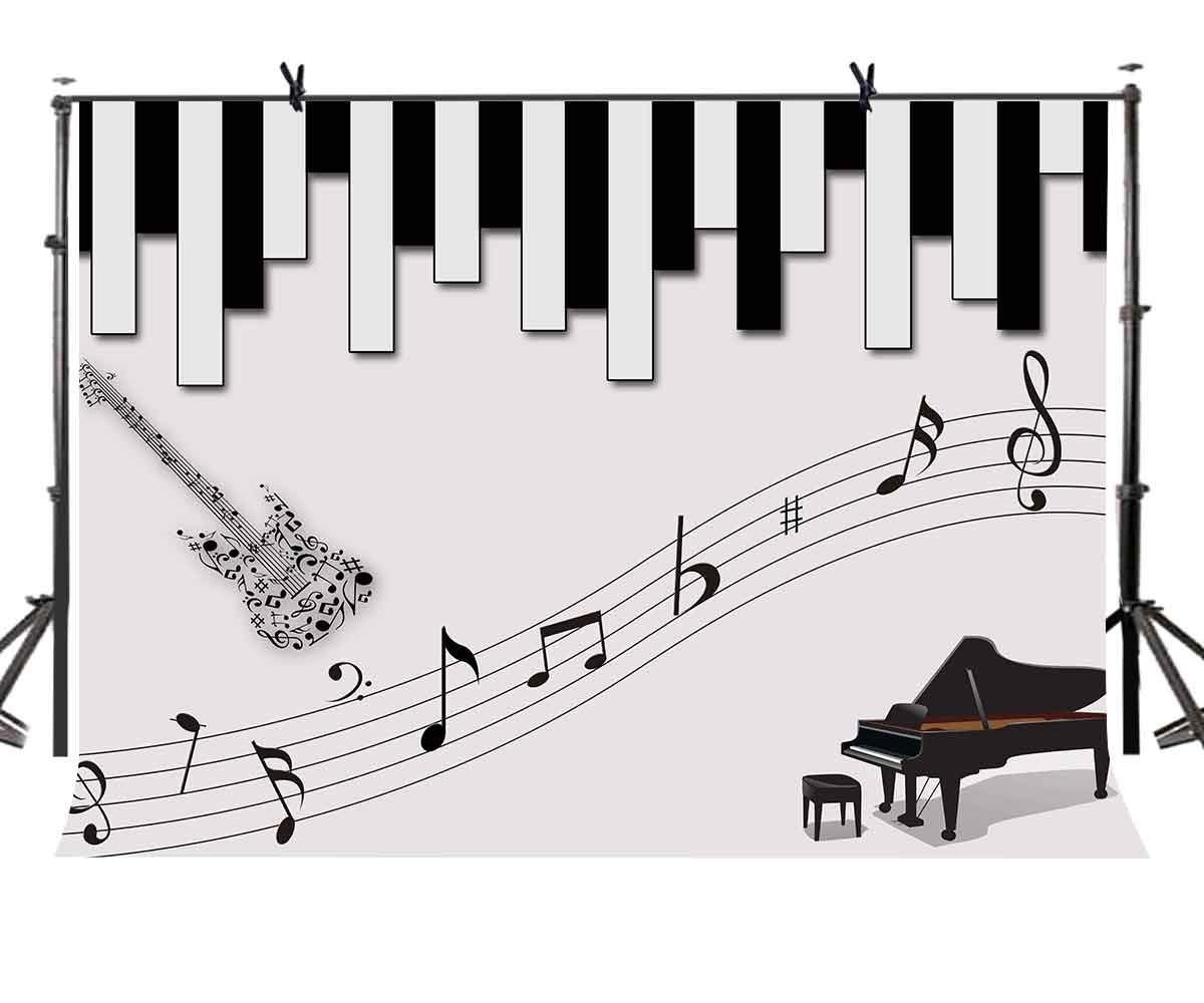 Amazon com lylycty 7x5ft piano keys photography backdrop black and white keys photography backdrop for music theme party photo background lyzy0247