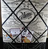 The French Memo Board-a Creative Display for Photos, Mementos, Greeting Cards and Much More- ''Menu''- Factory Sealed