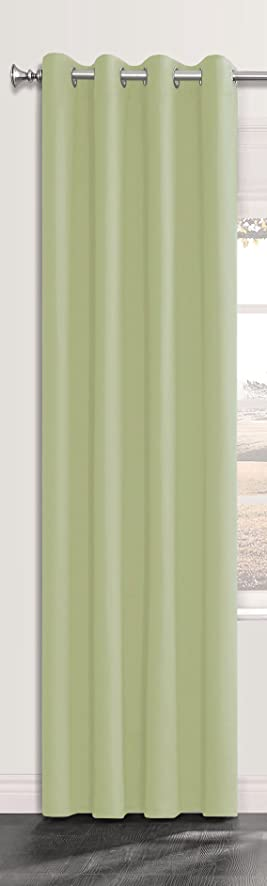 Onlyyou 1 Panel Window Treatment Thermal Insulated Solid Grommet Blackout  Curtains / Drapes For Bedroom (