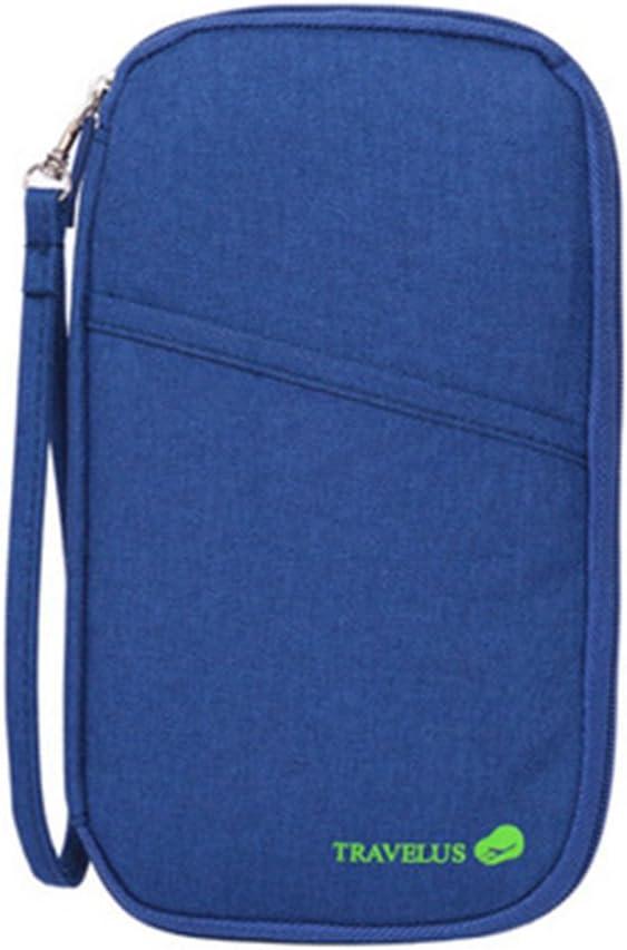 ZOONAI Waterproof Hands Strap Travel Clutch Bag Passport Holder Wallet Purple