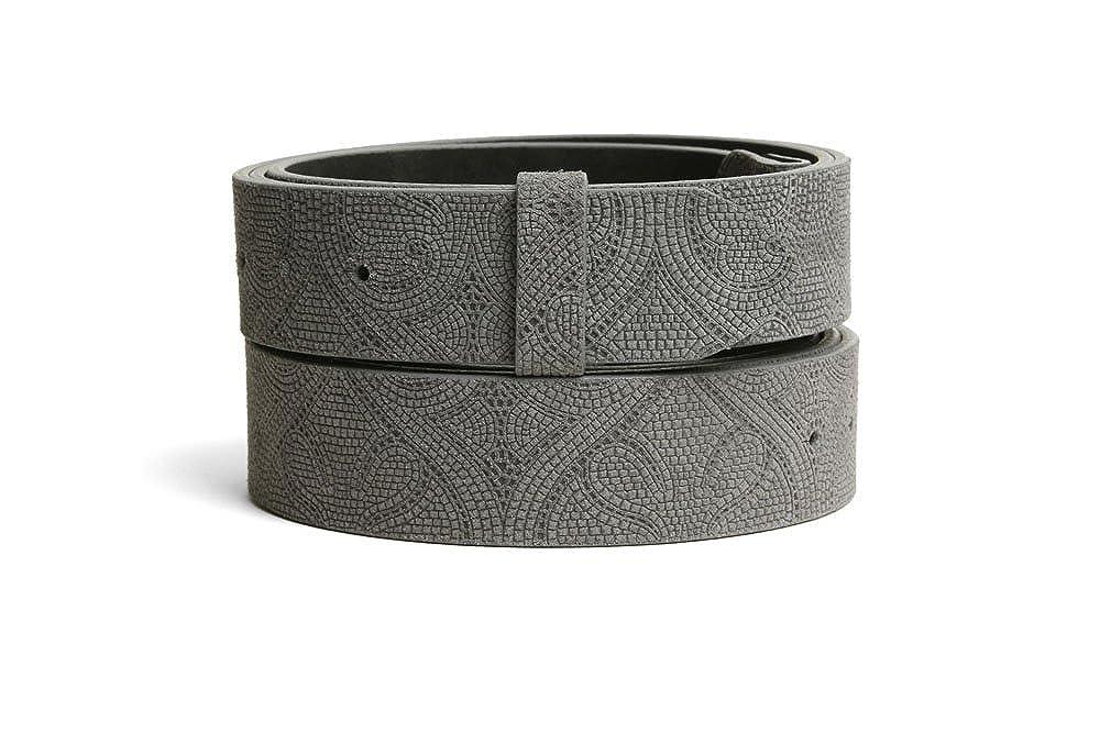 VaModa Belt, Cinturón en piel, modelo Airlington, color gris, sin hebilla