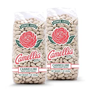 Camellia Brand Dry Cannellini Beans, 1 Pound (Pack of 2)