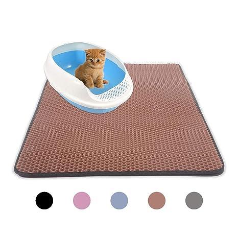 Robluee - Alfombra de Arena para Gatos limpios e higiénicos - Alfombrilla Impermeable al Agua para