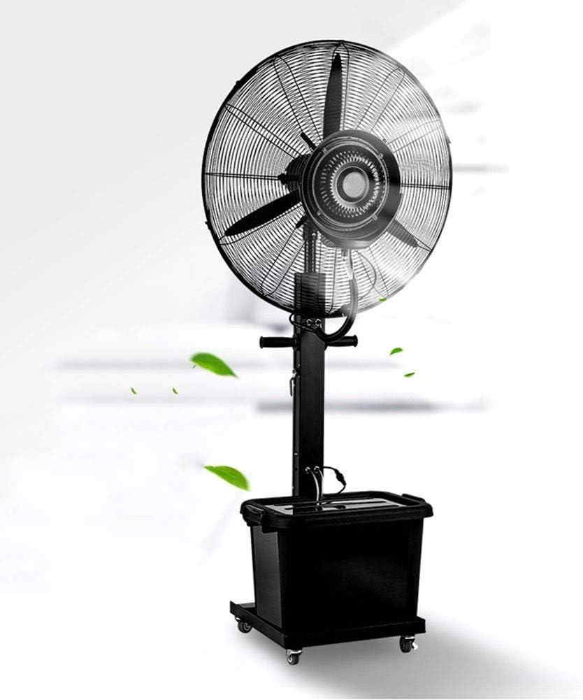 HJDHU Ventilador Nebulizador Industrial, Ventilador Oscilante De Pie con Tanque De Agua De 42L, Velocidad Ajustable