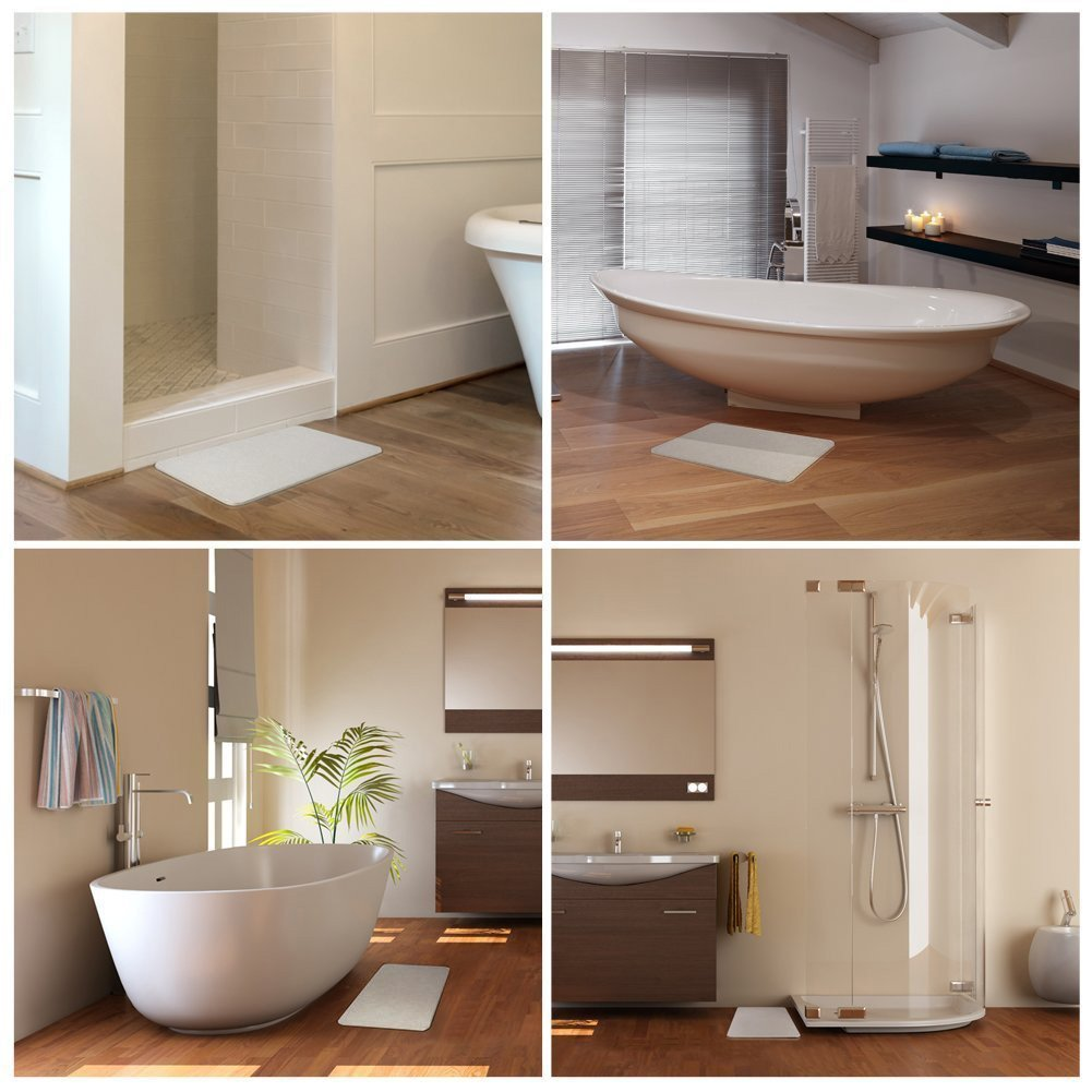 Amazon.com: Bath Mat, Diatomaceous Earth Bath Mat Non Slip Bathroom ...