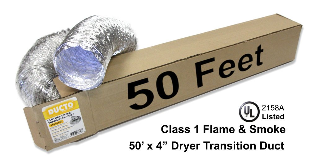 Ducto Clothes Dryer Vent 50 ft. Standard DTS-50