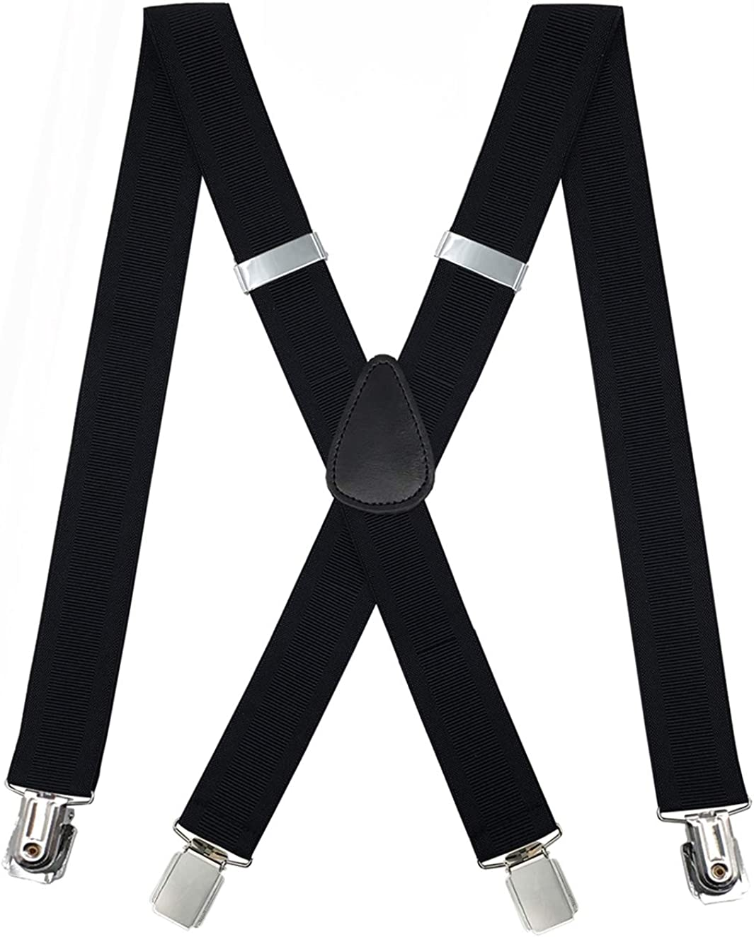 METUUTER Suspenders for Men – Heavy Duty Strong Clips Adjustable Elastic X Back Braces Big and Tall Men's Suspenders