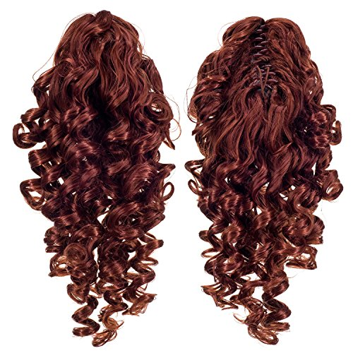12-Inch Short Screw Curls Claw Clip Ponytail