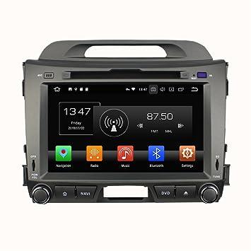 Android 8.0 Octa Core coche reproductor de DVD GPS navegación Multimedia estéreo de coche para Kia Sportage 2010: Amazon.es: Electrónica