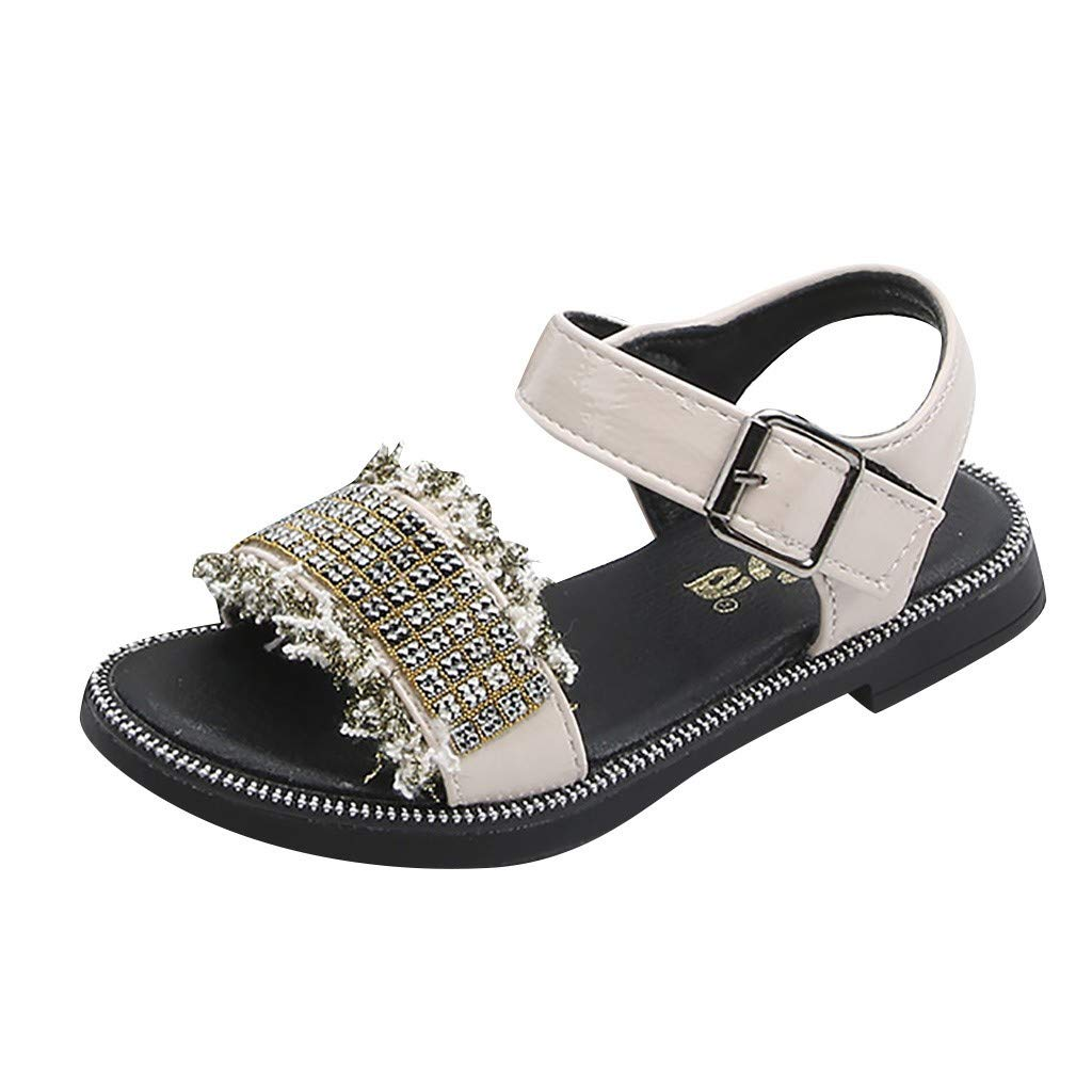 Alaso - Zapatos de bebé de verano para niña beige X-Large ...