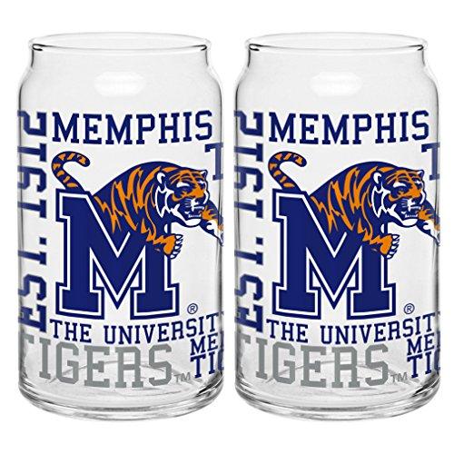 NCAA Memphis Tigers Spirit Glass Can, 16-ounce, 2-Pack Memphis Tigers Mens Basketball