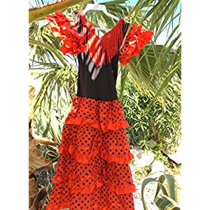 af0d3ecda La Senorita Spanish Flamenco Dress Costume - Girls   Kids - Red ...