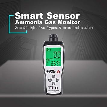 fghdfdhfdgjhh Sensor inteligente Monitor de calidad del aire AR8500 Medidor de gas Amoniaco TEMP Analizador de detectores Probador portátil Termómetro de ...