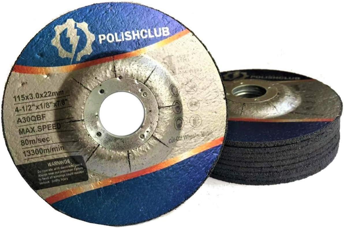 POLISHCLUB Cutting Grinding Wheels 10 pack (4-1/2 In Cutting Grinding Wheels)
