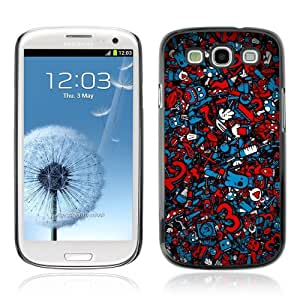 Designer Depo Hard Protection Case for Samsung Galaxy S3 / Cool Graffiti Abstract Pattern