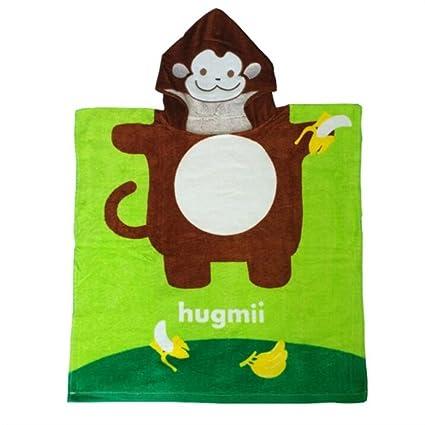 NaXinF peignoirs para niños algodón Albornoz Mono Cartoon Albornoz de algodón Toalla de baño Toalla de