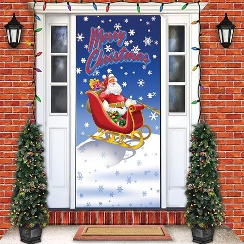 sc 1 st  Amazon.com & Amazon.com: Merry Christmas Door Cover: Home \u0026 Kitchen
