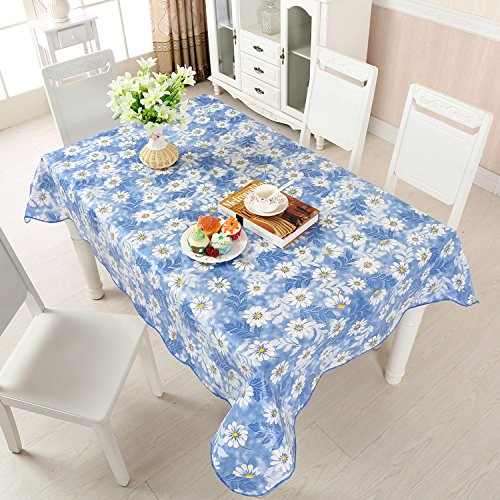 Uforme french country style table cloth oil proof flannel for 102 inch table runners