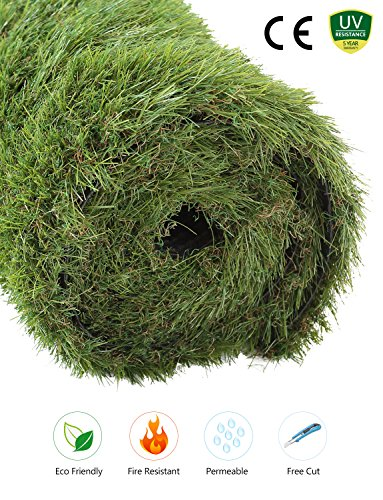 - GOLDEN MOON Outdoor Turf Rug Premium Artificial Grass Mat Realistic & Soft Series Green (3'x5'= 15 sq ft, 1.7