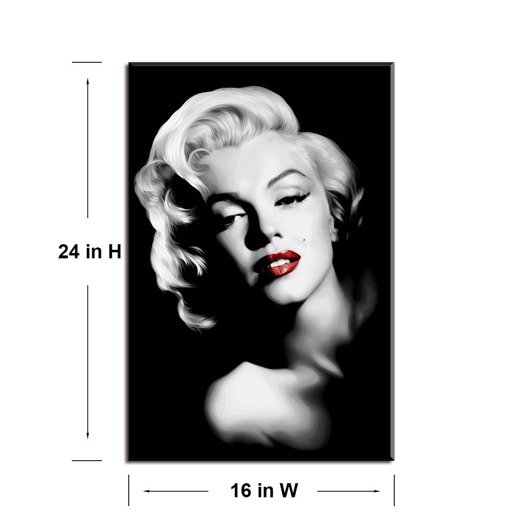 Product Description 1 Beautiful Monroe Canvas Wall Art Printed And Framed
