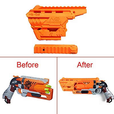 FenglinTech Maliang 3D Printing Appearance Decoration Part for Nerf Zombie Strike Hammershot Blaster - (Orange): Toys & Games