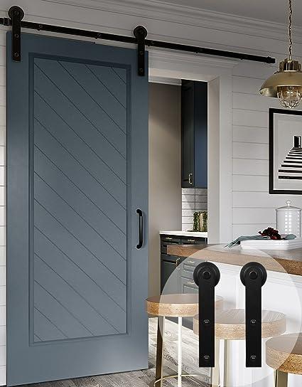 WINSOON - Kit de montaje para puerta corredera de una sola puerta de 9ft para ventana, armario de televisión, ganchos en forma de I: Amazon.es: Bricolaje y herramientas