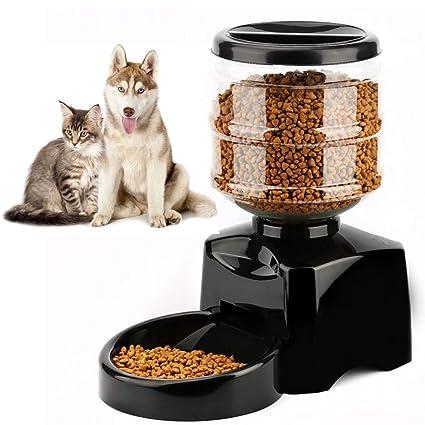 Ardorlove 5.5L dispensador automático de pienso para Perro y Gato, Soporte Timing alimentación y