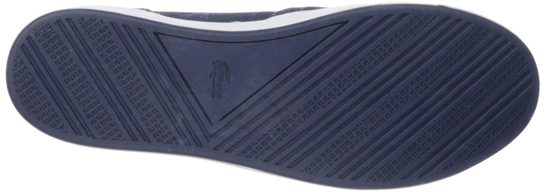 Lacoste Women's Lancelle 3 Eye Sneaker B074ZWNQ7K 8 B(M) US Navy Logo